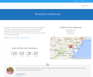 ShmooCon conference design example