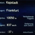 Flight information on the plane