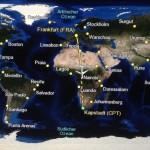 Visual flight information on the plane