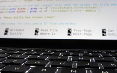 Retrieving Flickr photo views using shell scripting
