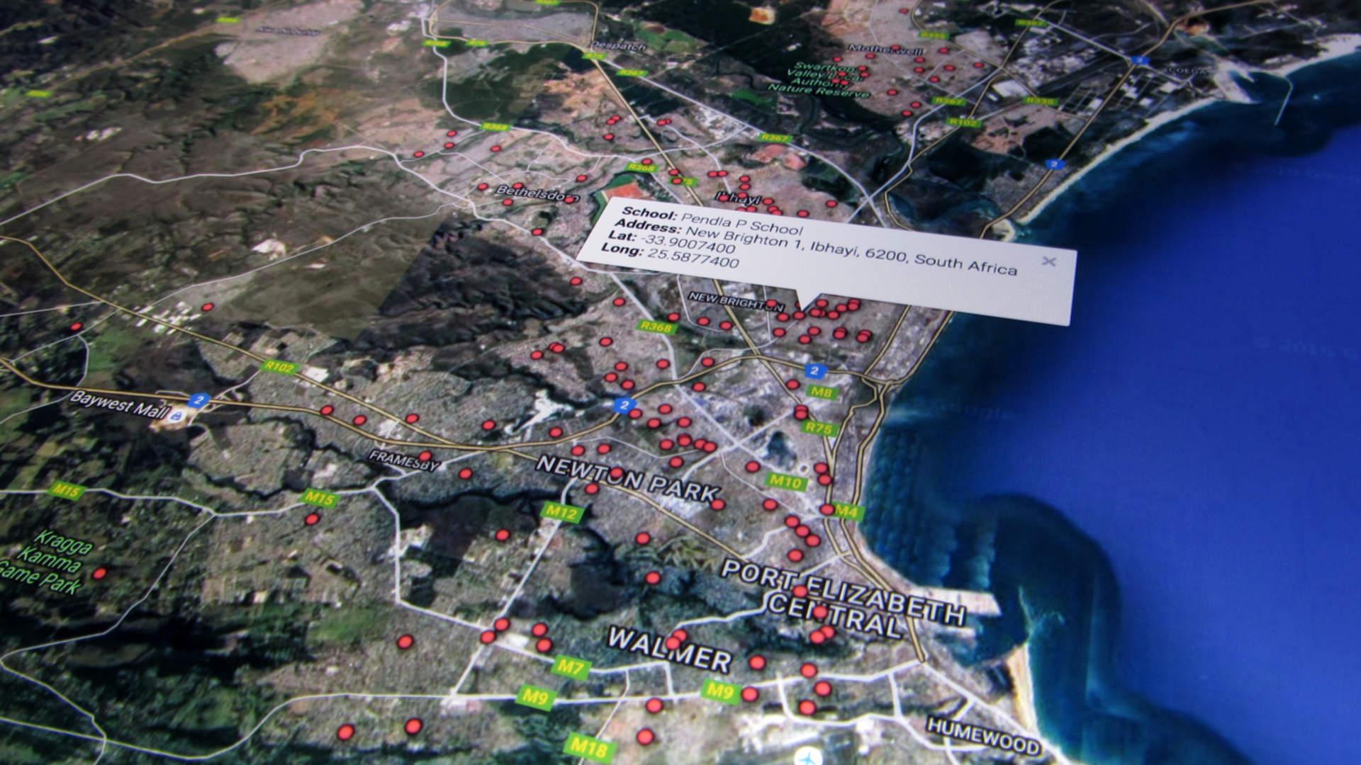 Schools Port Elizabeth onto Google Maps